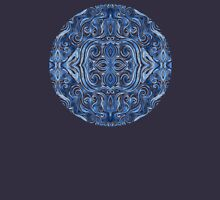 Indigo Blue Watercolor Swirl Pattern T-Shirt