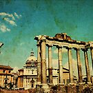 Temples of Saturn & Vespasian, Rome by buttonpresser