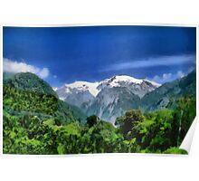 A Mountain Scene Poster