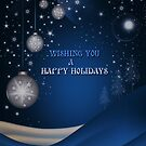 BLUE CHRISTMAS CARD 2 by Michael Beers