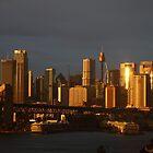 Golden Spires - Sydney Sunrise by Anthony O