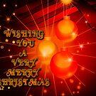 ORANGE CHRISTMAS CARD  by Michael Beers