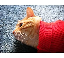 Red Sweater Photographic Print