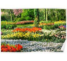 Blanket of Flowers Poster