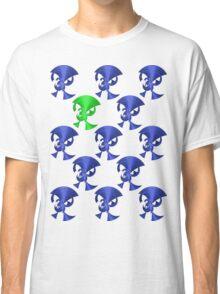 Green Horn Blue Horns Classic T-Shirt