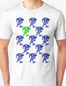 Green Horn Blue Horns T-Shirt