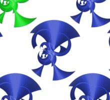 Green Horn Blue Horns Sticker