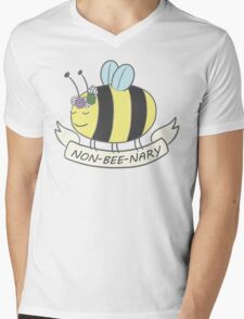 Non-bee-nary Pride Bee Mens V-Neck T-Shirt