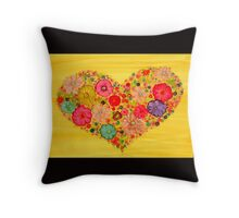 Love is All~Alcohol Ink Design Throw Pillow