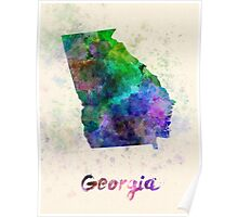 Georgia US state in watercolor Poster