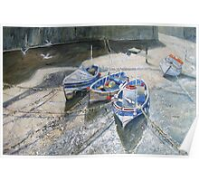 View From The Bridge, Staithes Poster