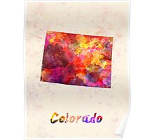 Colorado US state in watercolor Poster