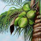 Tropical Green Coconuts by Dominica Alcantara