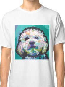 Poodle Maltipoo Dog Bright colorful pop dog art Classic T-Shirt