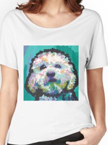 Poodle Maltipoo Dog Bright colorful pop dog art Women's Relaxed Fit T-Shirt