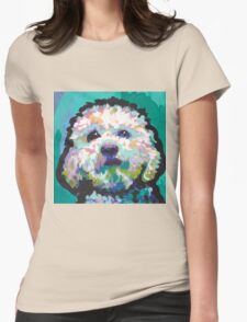 Poodle Maltipoo Dog Bright colorful pop dog art Womens Fitted T-Shirt