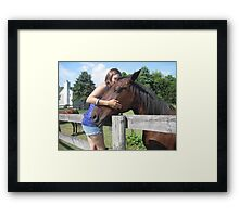 Equine and Humans = love Framed Print