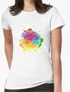 Funky Icosahedron Womens Fitted T-Shirt