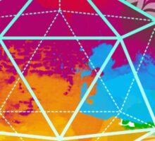 Funky Icosahedron Sticker