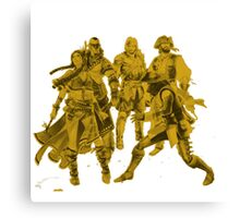 The Squad - Yellow Canvas Print