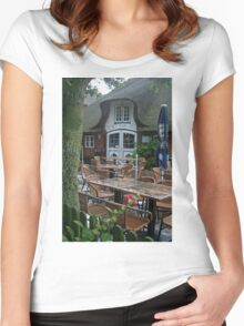 On a rainy summer day Women's Fitted Scoop T-Shirt