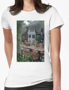 On a rainy summer day Womens Fitted T-Shirt
