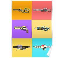 Destiny - The Guardians Arsenal Pixel Art  Poster