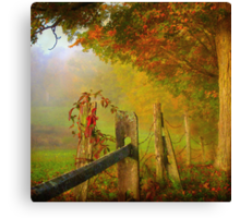 farm fence Canvas Print