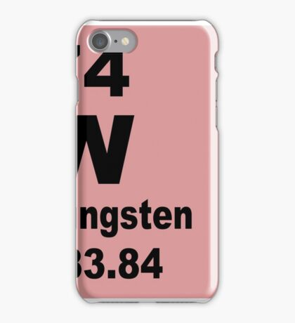 Tungsten periodic table of elements iPhone Case/Skin