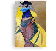 Yellow Slicker, Black Hat Canvas Print