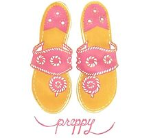 pink jack rogers by Emily Grimaldi