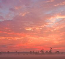 Sunrise in the country by Josef Pittner