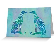 Lottinky Greyhounds - Singing in the Rain Greeting Card