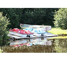 Cabot Cove Lake Paddle Boats & Dorry Photographic Print