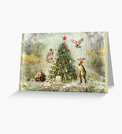 An Aussie Christmas Gathering Greeting Card