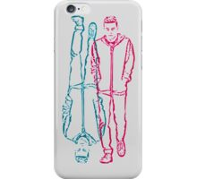 mr robot - red/blue iPhone Case/Skin