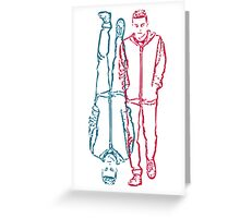 mr robot - red/blue Greeting Card