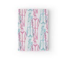 mr robot - red/blue Hardcover Journal