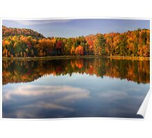 Autumn Shoreline Reflection Poster
