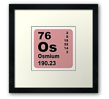 Osmium periodic table of elements Framed Print
