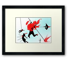 Killing in the name of Framed Print
