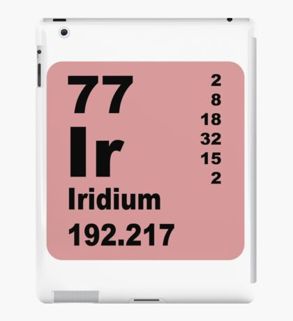 Iridium periodic table of elements iPad Case/Skin