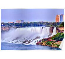 Evening at  Niagara Falls Poster