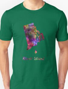 Rhode Island US state in watercolor T-Shirt