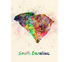 South Carolina US state in watercolor Photographic Print