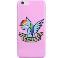 rainbow dash: element of loyalty iPhone Case/Skin