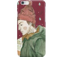 A lone young man iPhone Case/Skin