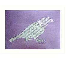 Wordy Birdy  Art Print