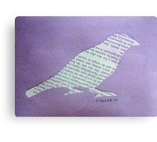 Wordy Birdy  Canvas Print