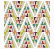 Geometric Multicolor Triangle Pattern Kids Tee